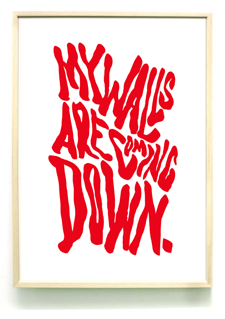 My walls are coming down A2 RISO print